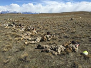 Soldiers from 2/4 Royal New Zealand Infantry Regiment on exercise in Tekapo.